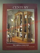 1989 Century Cardella Collection Furniture Ad