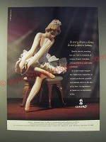 1989 lladro Opening Night Ad - In every dream a dance. In every dance a fantasy