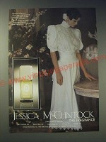 1989 Jessica McClintock Perfume Ad - Pristine perfection from every perspective