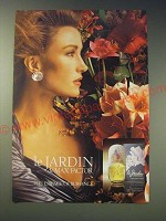 1989 Max Factor Le Jardin Perfume Ad - The essence of romance