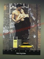 1989 Fendi Uomo Perfume Ad - The provocative world of Fendi fragrance