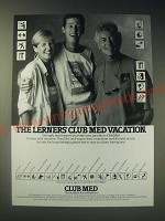 1989 Club Med Vacation Ad - The Lerners' Club Med Vacation