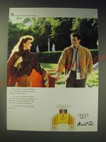 1989 Gucci No. 3 Perfume Ad - She tugged on his hand anxiously