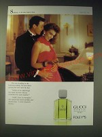 1989 Gucci Nobille for Men Cologne Ad - Suddenly, it all came back to him