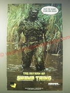 1989 The Return of Swamp Thing Movie Ad - Keep the planet clean and green