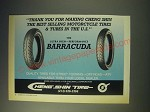 1989 Cheng Shin Barracuda Motorcycle Tires Ad - Thank you