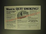 1989 Health Innovations LifeSgn Ad - Want to quit Smoking?