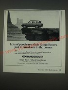 1989 Range Rover Ad - Lots of people use their Range Rovers just to run down