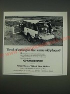 1989 Range Rover Ad - Tired of eating in the same old places?