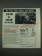 1989 Foley-Belsaw Co. Ad - Be your own boss and make $18.00 to $30.00 an hour!