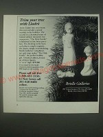 1989 Brielle Galleries Ad - Lladro The Holy Family Christmas Ornaments