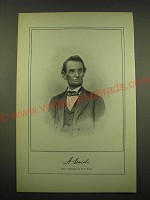 1902 Print of Abraham Lincoln - Photograph by M.B. Brady