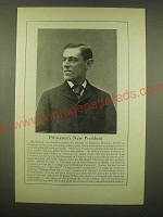 1902 Magazine Picture and Text of Woodrow Wilson - Princeton's New President
