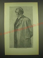 1902 Magazine Print of Werenskiold's Portrait of Ibsen