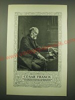 1902 Magazine Print of Cesar Franck - From a painting owned by M. Georges Franck