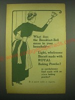 1902 Royal Baking Powder Ad - What does the breakfast-bell mean