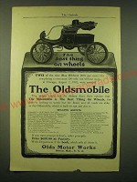 1902 Oldsmobile Car Ad - The Best thing on wheels