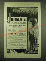 1902 United Fruit Company Ad - Jamaica the Gem of the west indies