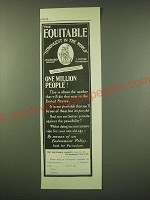 1902 Equitable Insurance Ad - One Million People!