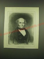 1902 Magazine Print of Martin Van Buren after a miniature by Mrs. Bogardus