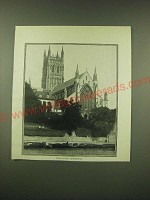 1902 magazine Print of a photograph of Worcester Cathedral