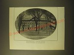 1902 Magazine Print of Stoughton hall, Harvard College