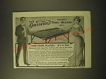 1902 Burrowes Portable Pool and Billiard table Ad - For home playing $15 to $45