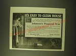 1902 S.C. Johnson Prepared Wax Ad - It's easy to clean house