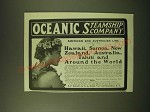 1902 Oceanic Steamship Company Ad - Hawaii, Samoa, New Zealand, Australia