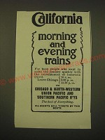 1902 Chicago & North-Western, Union Pacific and Southern Pacific Railways Ad