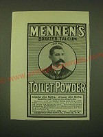 1902 Mennen's Borated Talcum Toilet Powder Ad
