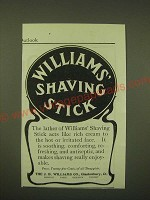 1902 Williams' Shaving Stick Ad - The Lather