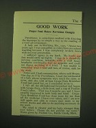 1902 Postum Food Coffee and Grape-Nuts Cereal Ad - Good work proper food makes