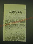 1902 Postum Food Coffee Ad - A china head comes from tea drinking