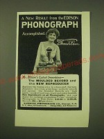 1902 National Phonograph Co. Ad - A new result from the Edison phonograph