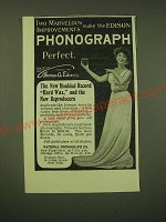 1902 National Phonograph Co. Ad - Two marvelous improvements