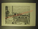 1893 Magazine Print of a Photograph of the World's Fair