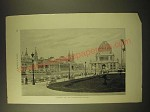 1893 Magazine Print of a Photograph of the World's Fair - Machinery Hall