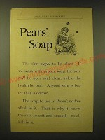 1893 Pears' Soap Ad - Pears' Soap the skin ought to be clear