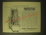 1893 Standard Manufacturing Porcelain-Lined Baths Ad - Protection