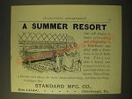 1893 Standard Manufacturing Porcelain-Lined Baths Ad - A summer resort