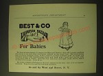 1893 Best & Co Liliputian Bazaar Clothes Ad - for Babies