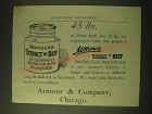 1893 Armour's Extract of Beef Ad - 45 lbs.
