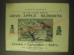 1893 Crown Perfumery Crab-Apple Blossoms and Lavender Salts Ad