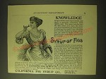 1893 California Fig Syrup Co. Ad - Knowledge