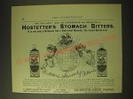 1893 hostetter's Stomach Bitters Ad - Are you sick?