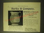 1893 Burley & Company Ad - Columbus Water Pitcher by Copeland & Sons