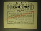 1893 Great Rock Island Route Ad - Great Rock Island route