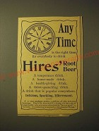 1893 Hires' Root Beer Ad - Any time is the right time for everybody to drink