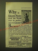 1893 Chocolat Menier Ad - Why is Chocolat-Menier used the world over